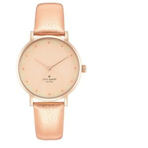 Kate Spade Metro Scallop Rose Gold Leather Watch